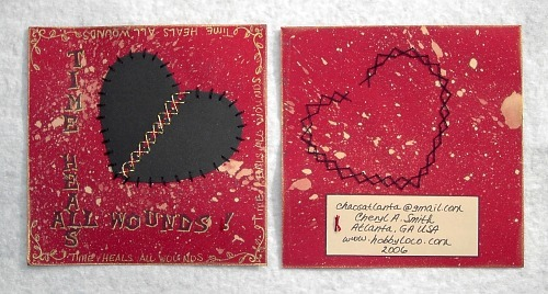 heart themed page