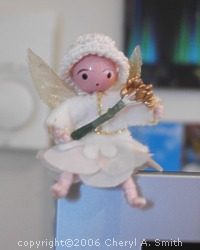 Photo showing little snow fairy.