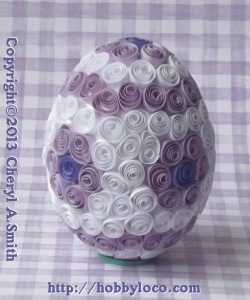 quilled paper egg